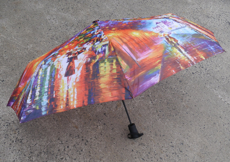 COLOURFUL CITY WALKING IN THE RAIN AUTOMATIC OPEN COMPACT FOLDING UMBRELLA HW185