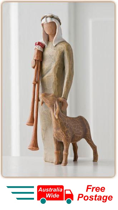 ZAMPOGNARO SHEPHERD NATIVITY Demdaco Willow Tree Figurine By Susan Lordi BNIB