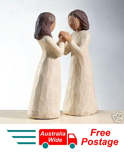 SISTERS BY HEART Demdaco Willow Tree Figurine By Susan Lordi BRAND NEW IN BOX