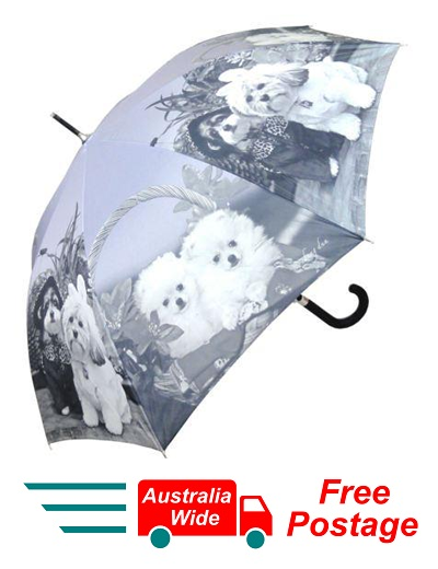 MALTESE AND POMERANIAN DOG AUTOMATIC OPENING 100CM DIAMETER UMBRELLA HW-71A