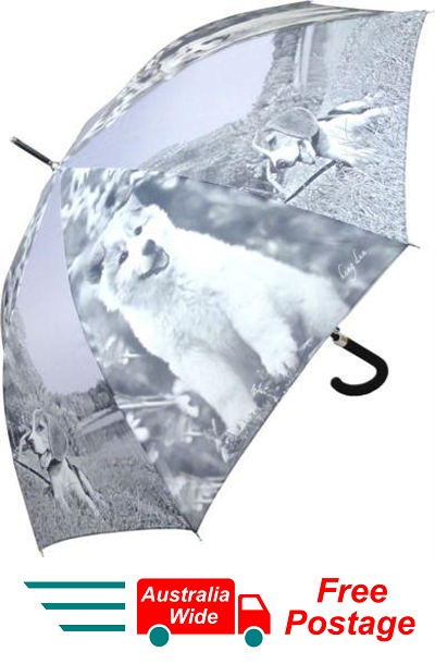 BEAGLE AND AKITA PUPPY DOG AUTOMATIC OPENING 100CM DIAMETER UMBRELLA HW-71D