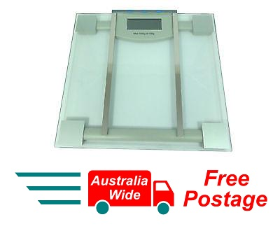 ELECTRONIC DIGITAL GLASS BATHROOM BODY FAT & HYDRATION SCALE UP TO 150KG HW6