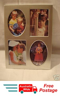 "PHOTO FRAME COLLAGE MULTI  FITS 4 PHOTOS "" METAL"""