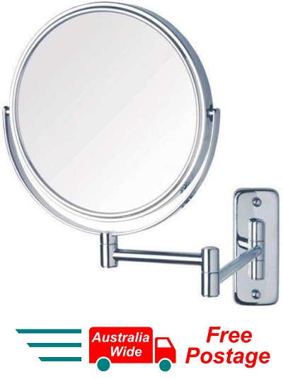 "WALL MOUNT MAGNIFYING COSMETIC 2 SIDED BATHROOM MIRROR 8"" 3X MAGNIFICATION WL23"