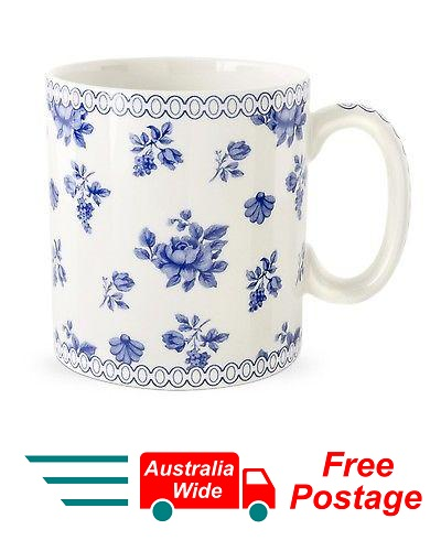 SPODE BLUE COFFEE TEA MUG CHINTZ POSY PORTMEIRION GROUP