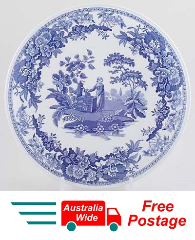 SPODE BLUE ROOM PLATE GIRL AT WELL MADE IN ENGLAND PORTMEIRION GROUP
