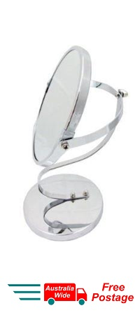 MAGNIFYING COSMETIC TWO SIDED BATHROOM MIRROR MULTI STAND 3X MAGNIFICATION WL21