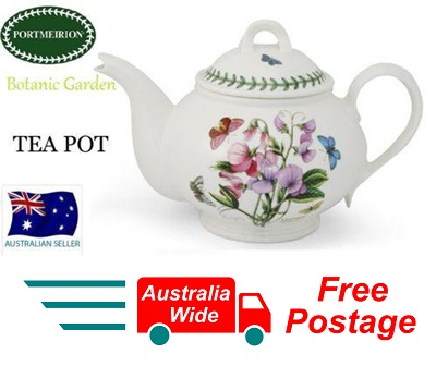 PORTMEIRION BOTANIC GARDEN TEA POT TEAPOT 1 LITRE NEW