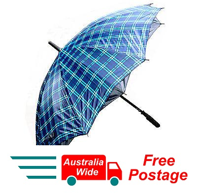 TARTAN UMBRELLA 100% UV PROTECTION WIND PROOF 100CM DIAMETER AUTOMATIC OPEN C