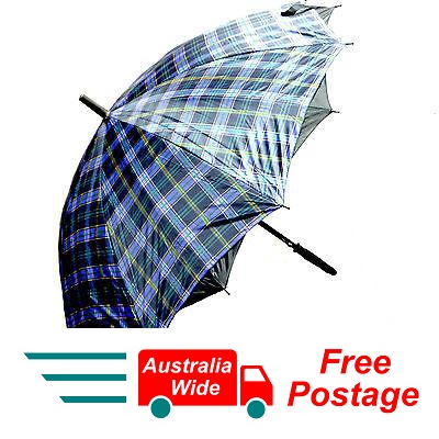 TARTAN UMBRELLA 100% UV PROTECTION WIND PROOF 100CM DIAMETER AUTOMATIC OPEN B