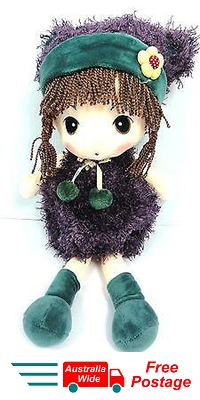 CUTE AZZ COLLECTABLE RAGDOLL FLUFFY DRESS VELVET SOFT ANIME RAGDOLL PURPLE HW-83