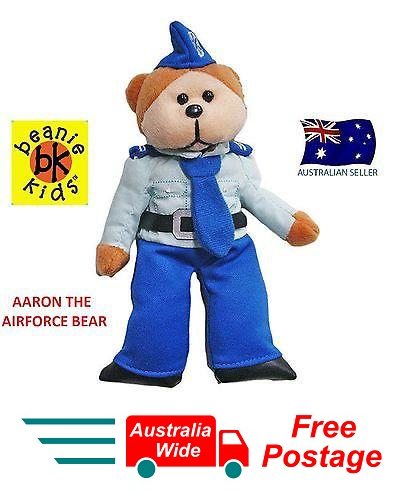 BEANIE KIDS AARON THE AIRFORCE BEAR BRAND NEW WITH MINT TAG RETIRED