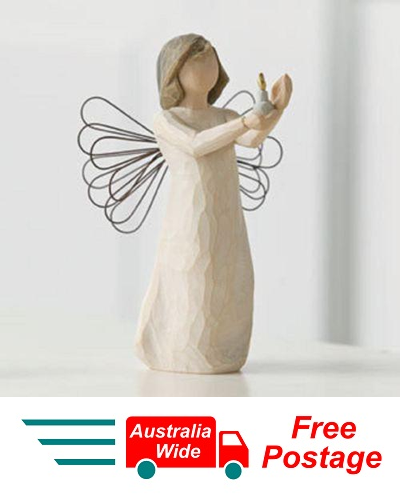 ANGEL OF HOPE WITH CANDLE Demdaco Willow Tree Figurine By Susan Lordi NEW IN BOX
