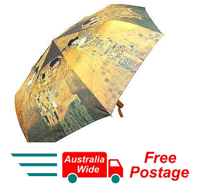 GUSTAV KLIMT THE KISS WOMAN IN GOLD AUTOMATIC OPEN CLOSE FOLDING UMBRELLA HW-70