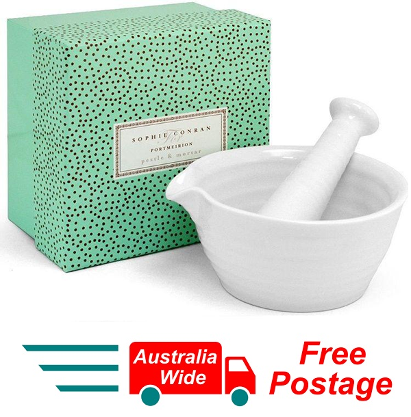 SOPHIE CONRAN FOR PORTMEIRION WHITE MORTAR AND PESTLE