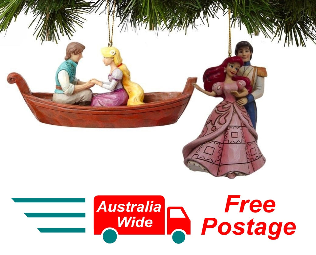 Jim Shore Disney Traditions Ariel and Rapunzel Hanging Ornament Set 4057964