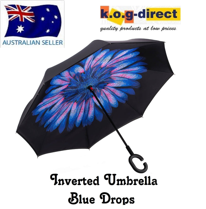 Inverted Umbrella Double Layer Reverse Umbrella Blue Drop HW - 150
