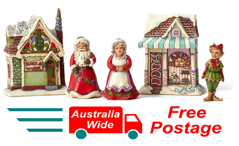 JIM SHORE HEARTWOOD CREEK CHRISTMAS RANGE SANTAS CHRISTMAS VILLAGE