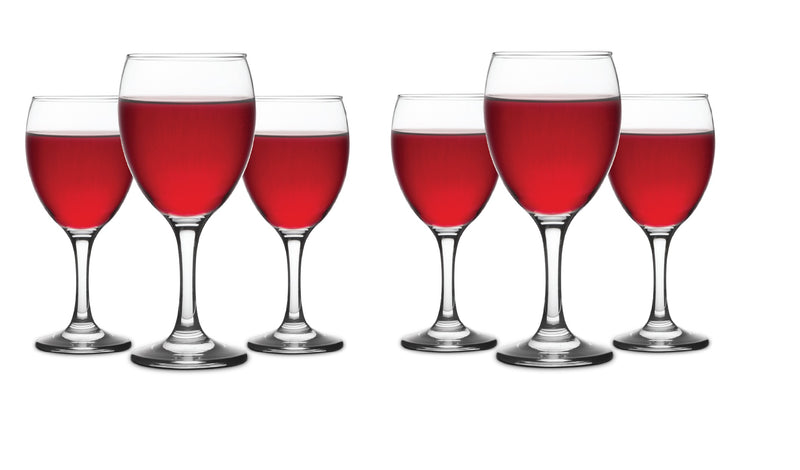 CLASSICA ART CRAFT CADEN SET OF SIX RED WINE GLASSES 340ml