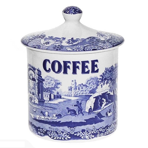 SPODE BLUE ITALIAN COFFEE CANISTER PORTMIRION GROUP BLI3805-X