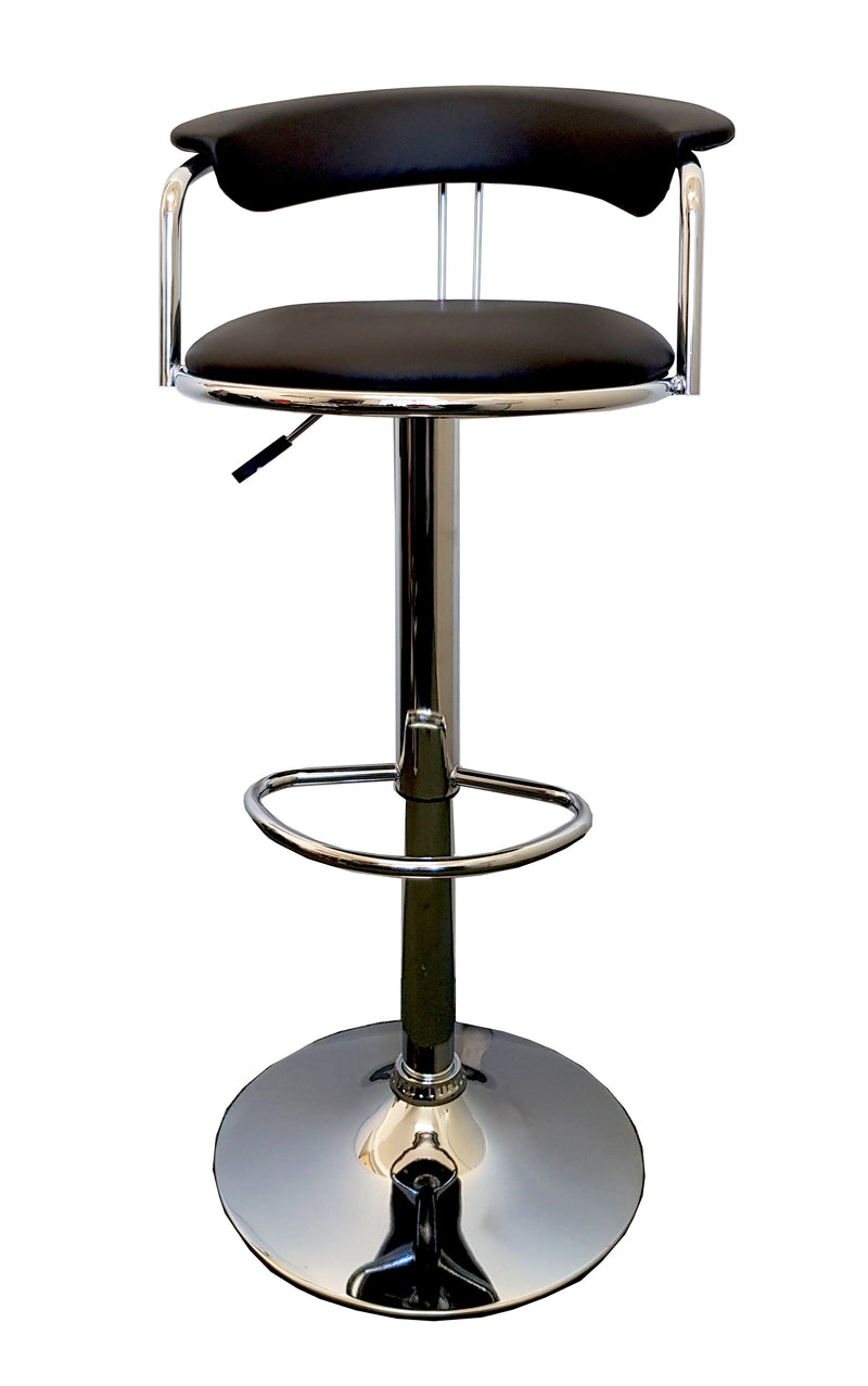FREE POSTAGE 2X COMFORT DESIGN KITCHEN BAR STOOL MODERN PU LEATHER SEAT ADUSTABLE GAS BLACK