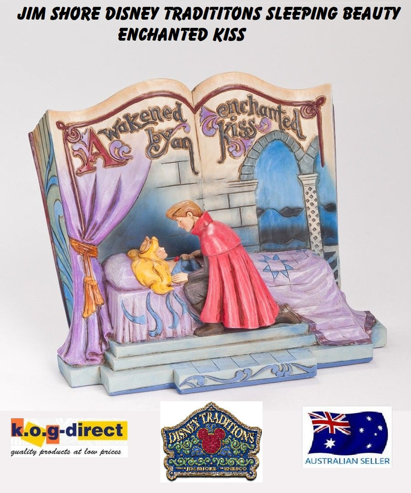 JIM SHORE SLEEPING BEAUTY ENCHANTED KISS STORYBOOK DISNEY TRADITIONS