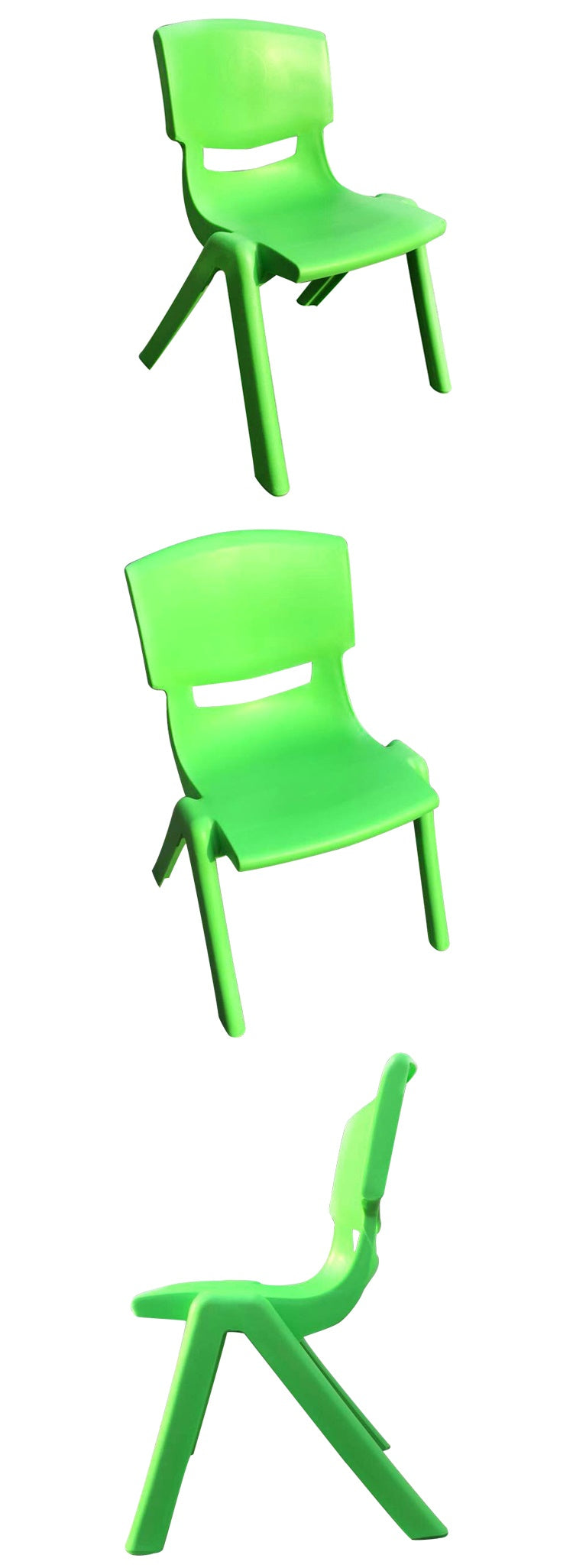 SET OF 4 GREEN CHILDRENS CHAIRS FOR CHILDRENS TABLE HOLDS UP TO 100KG