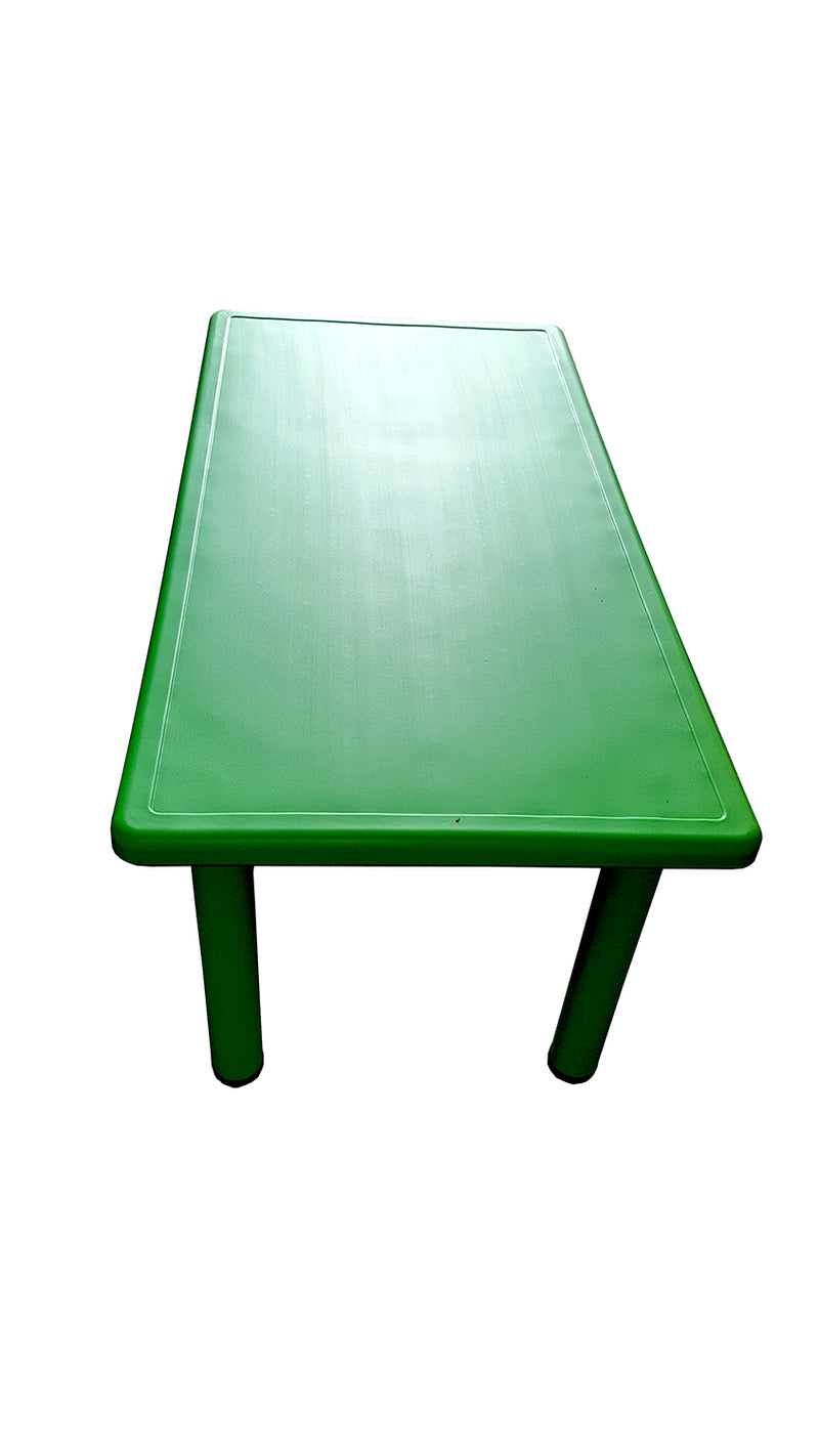 LARGE CHILDREN TODDLER KIDS ADJUSTABLE GREEN TABLE 120cmX60cm