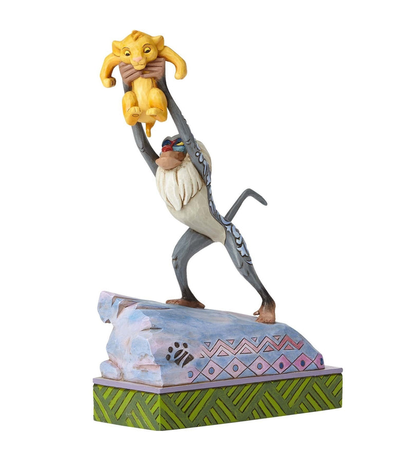 DISNEY TRADITIONS JIM SHORE LION KING RAFIKI & SIMBA HEIR TO THE THRONE FIGURINE