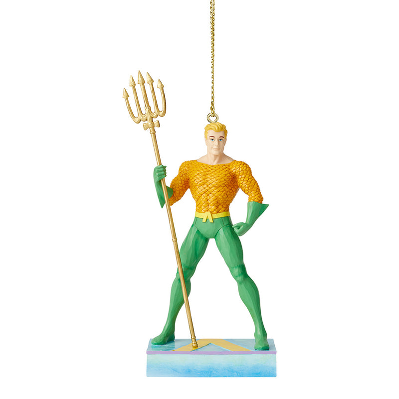 JIM SHORE DC COMIC AQUAMAN SILVER AGE KING OF THE SEVEN SEAS ORNAMENT 6005076