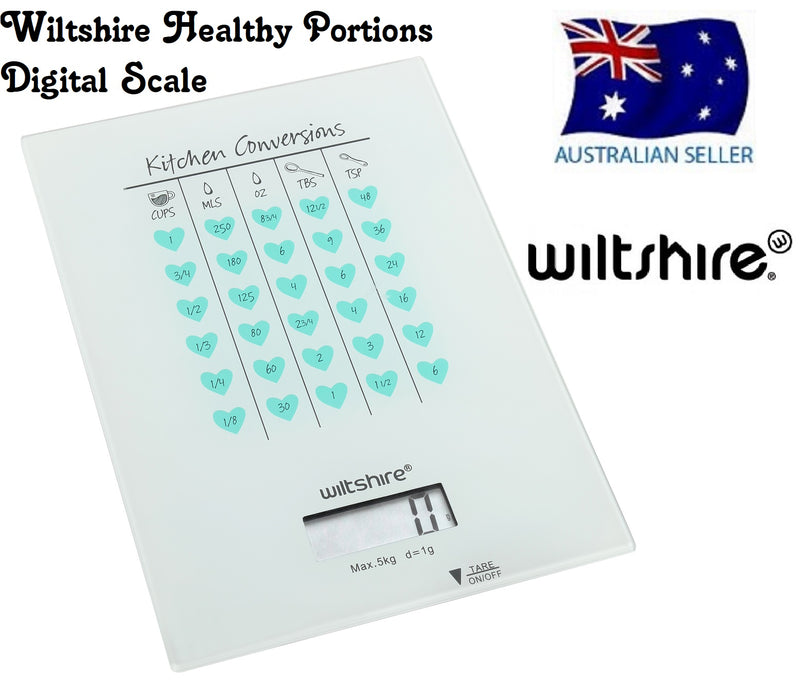 WILTSHIRE DIGITAL SCALES HEALTHY PORTIONS WITH KITCHEN CONVERTIONS