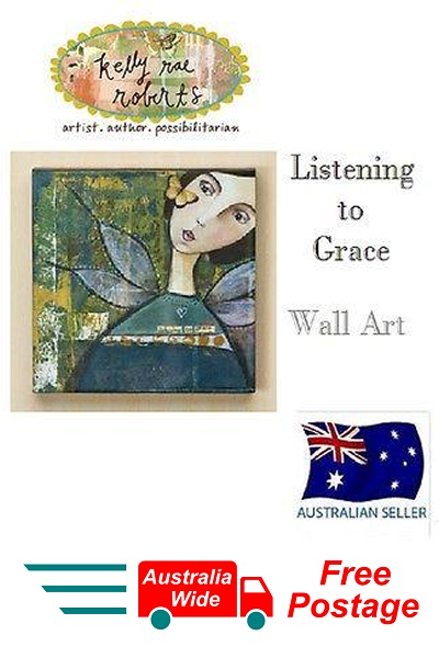 Kelly Rae Roberts Collection LISTENING TO GRACE Wall Art Demdaco