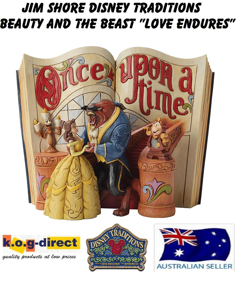 JIM SHORE BEAUTY AND THE BEAST LOVE ENDURES DISNEY TRADITIONS STORYBOOK FIGURINE