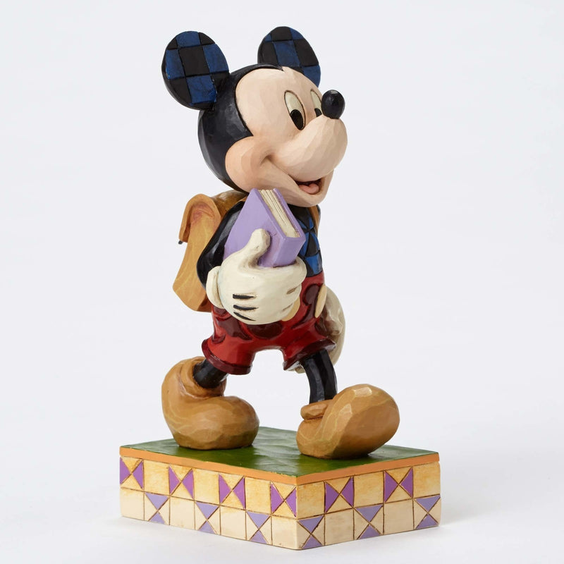 JIM SHORE DISNEY TRADITIONS MICKEY MOUSE EAGER TO LEARN FIGURINE 4051995