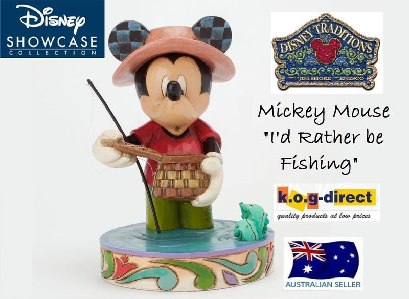 JIM SHORE DISNEY TRADITIONS MICKEY MOUSE I'D RATHER BE FISHING FIGURINE 4038493