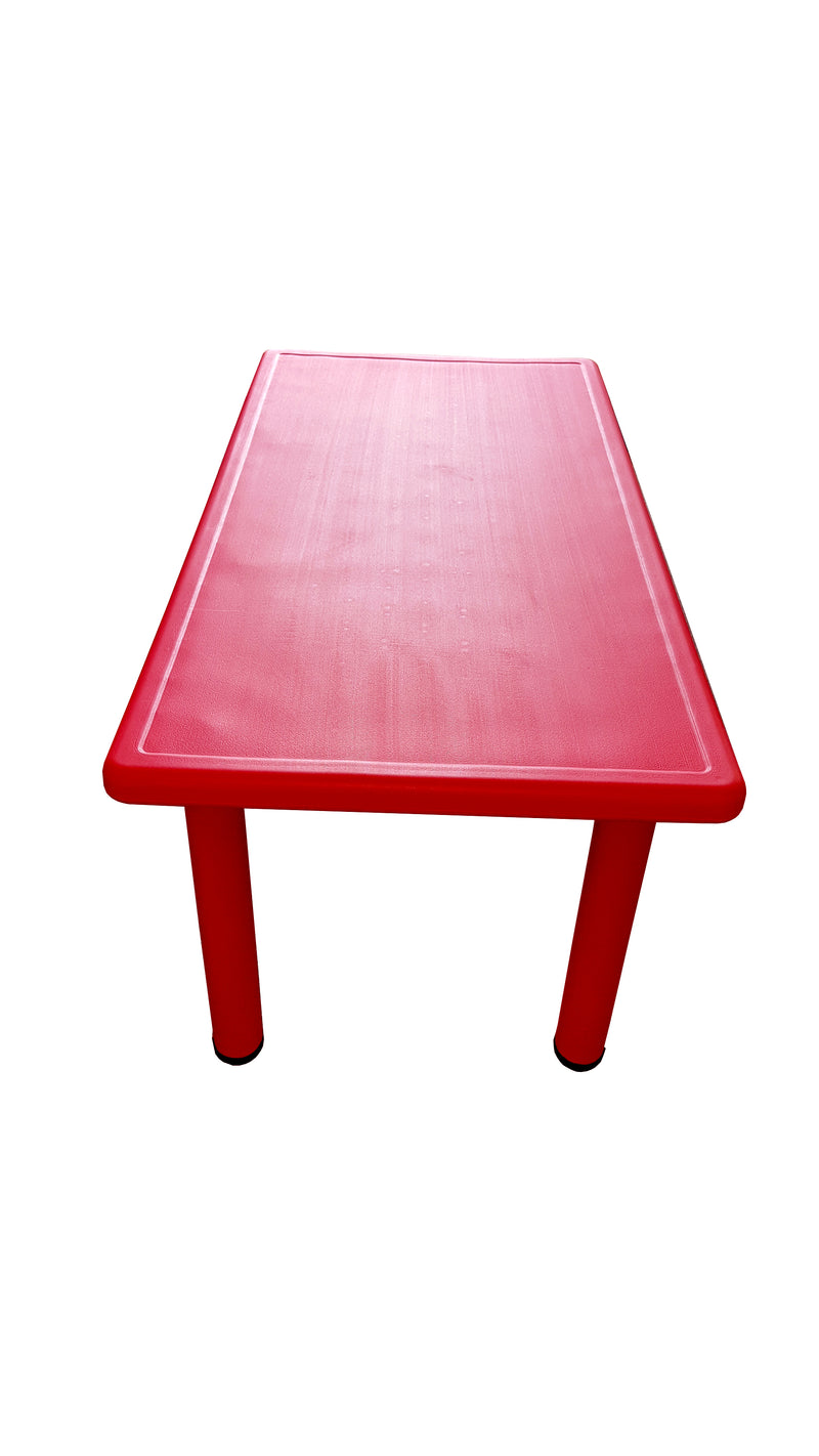 LARGE CHILDREN TODDLER KIDS ADJUSTABLE RED TABLE 120cmX60cm