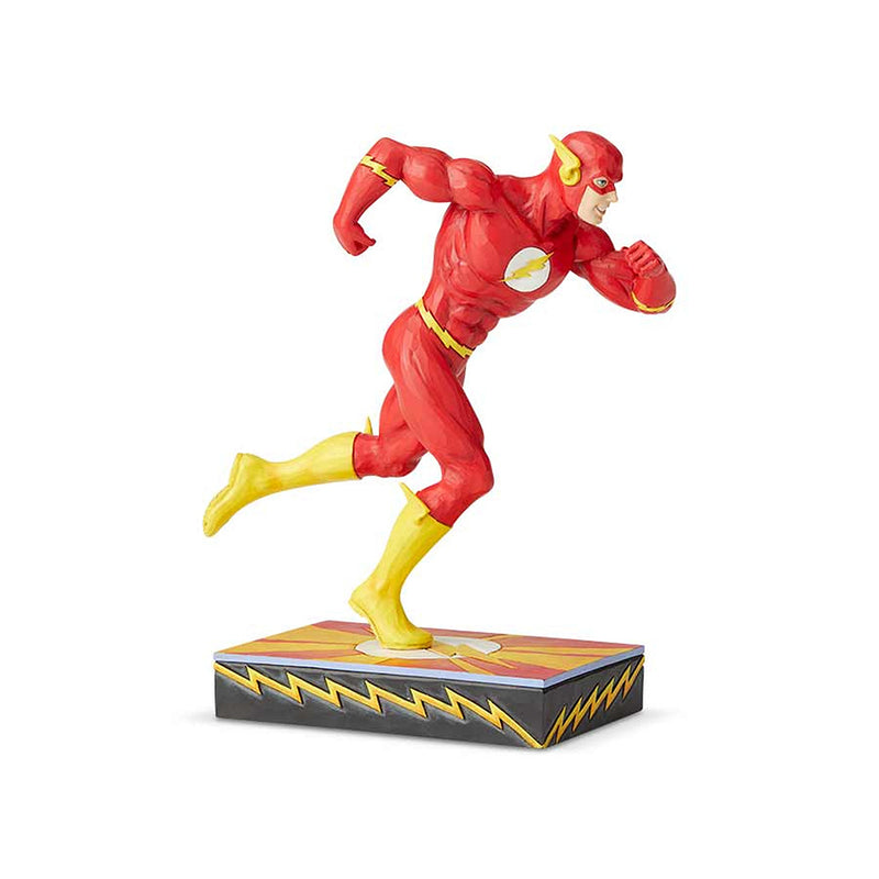 JIM SHORE DC COMIC THE FLASH SILVER AGE SCARLET SPEEDSTER FIGURINE 6003025