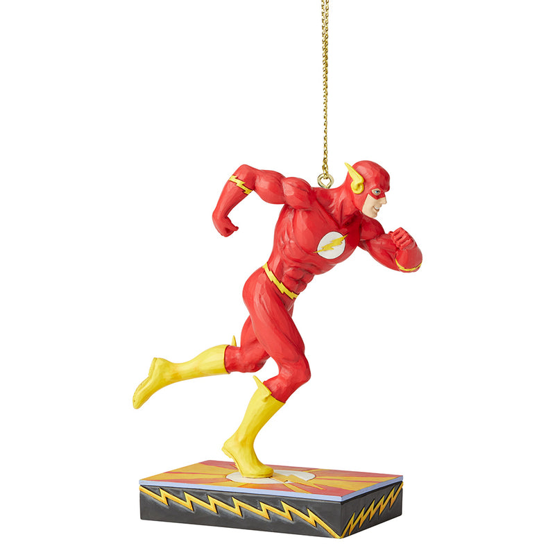 JIM SHORE DC COMIC THE FLASH SILVER AGE SCARLET SPEEDSTER ORNAMENT 6005075