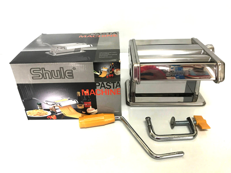 SHULE PASTA NOODLE MAKER MACHINE CUTTER FOR FRESH SPAGHETTI 7 THICKNESS SETTINGS