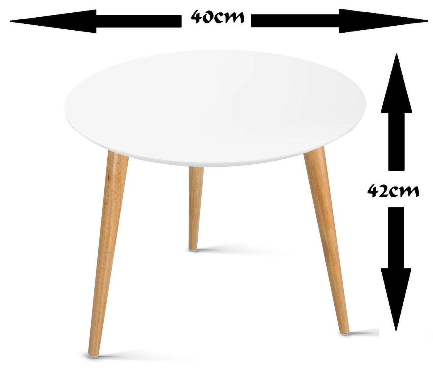MODERN SIDE TABLE COFFEE TABLE BEDSIDE ROUND LAMP OFFICE HOME FURNITURE WOOD