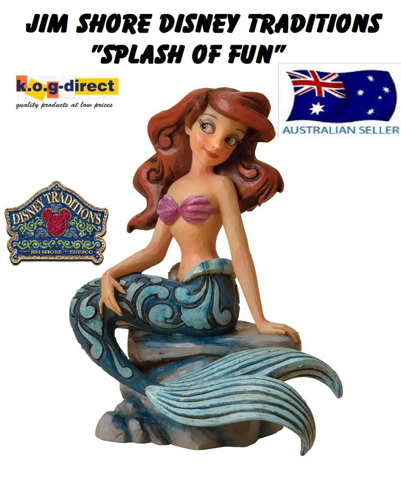 JIM SHORE DISNEY TRADITIONS ARIEL SPLASH OF FUN FIGURINE 4023530