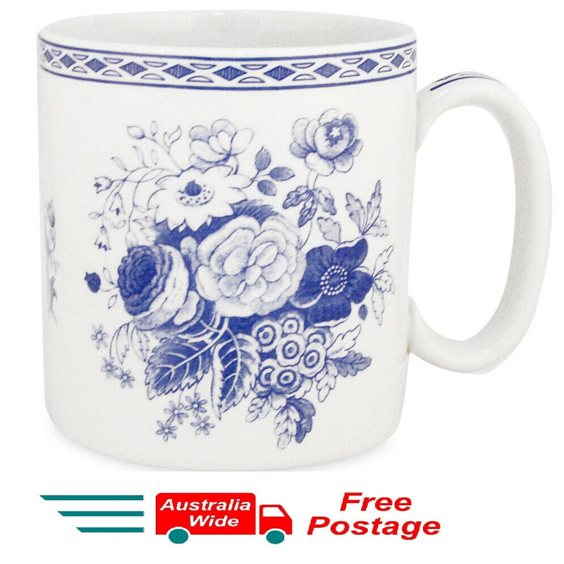 SPODE BLUE COFFEE TEA MUG ARCHIVE BLUE ROSE PORTMEIRION GROUP