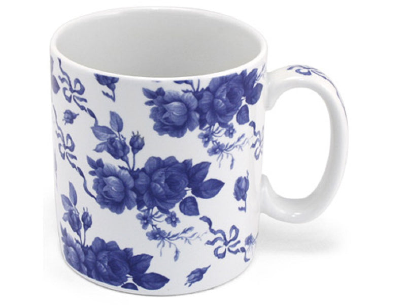 SPODE BLUE COFFEE TEA MUG CHINTZ GARLAND PORTMEIRION GROUP