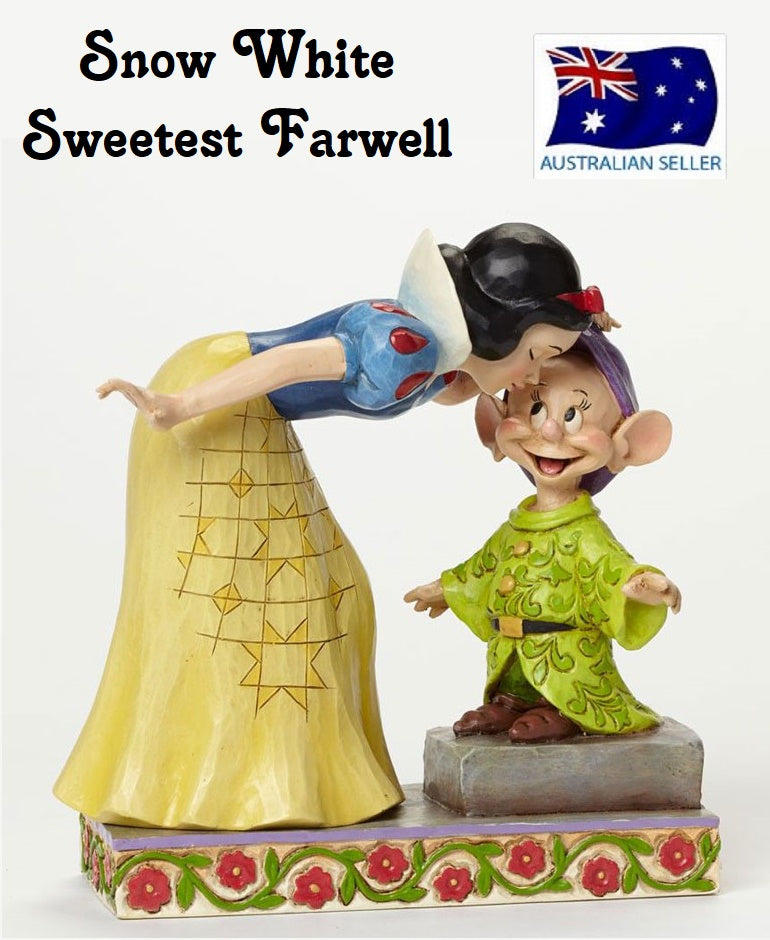 Jim Shore Disney Traditions Snow White and Dopey Sweetest Farewell 4043650