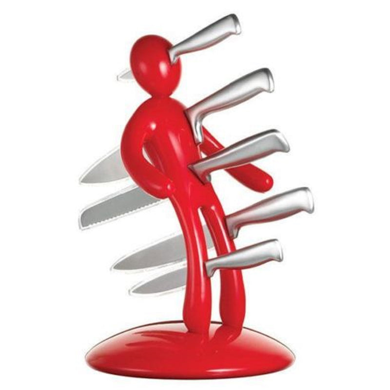 THE GUARANTEED ORIGINAL VOODOO CSB KITCHEN KNIFE BLOCK SET RED SECOND EDITION