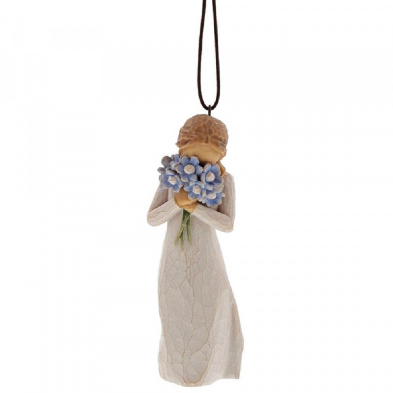 FORGET ME NOT ORNAMENT Demdaco Willow Tree Figurine By Susan Lordi NEW IN BOX
