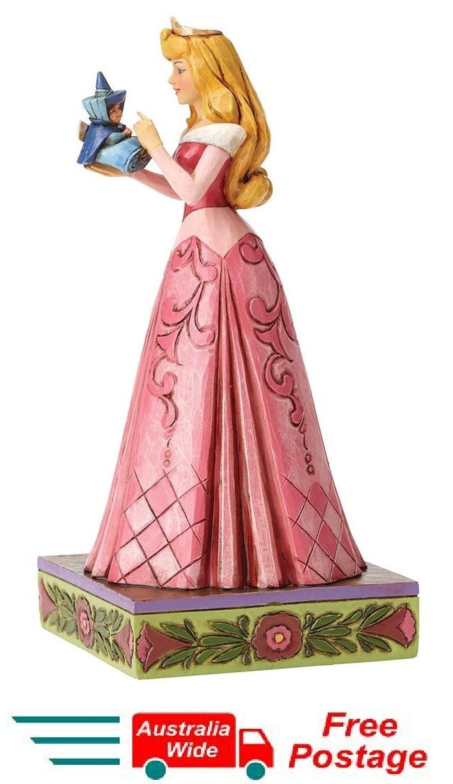 Jim Shore Disney Traditions Aurora with Fairy Wonder and Wisdom Sleeping Beauty 4054275