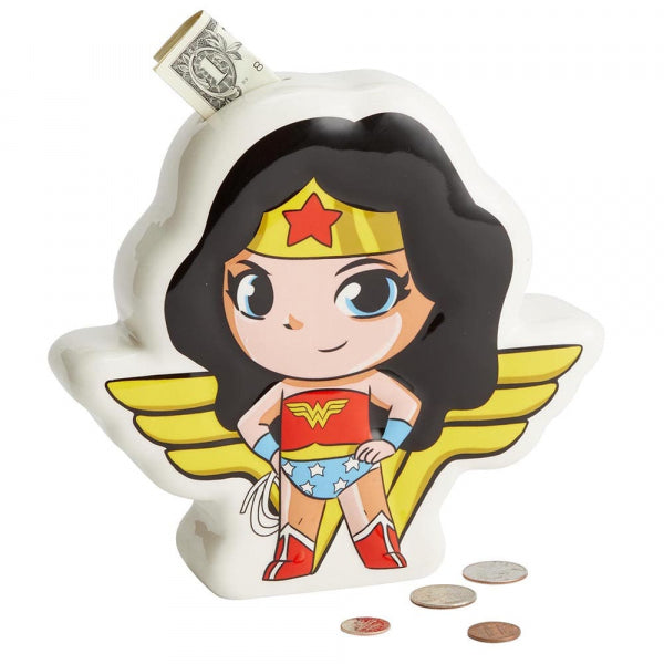 DC Super Friends Wonder Woman Money Coin Bank Box Superhero 6003741
