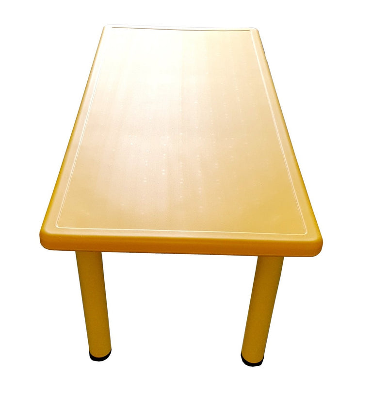LARGE CHILDREN TODDLER KIDS ADJUSTABLE YELLOW TABLE 120cmX60cm