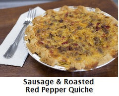 Sausage & Roasted Red Pepper Quiche